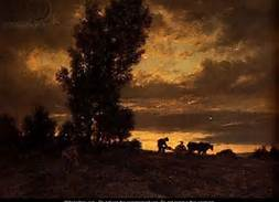Plough in evening